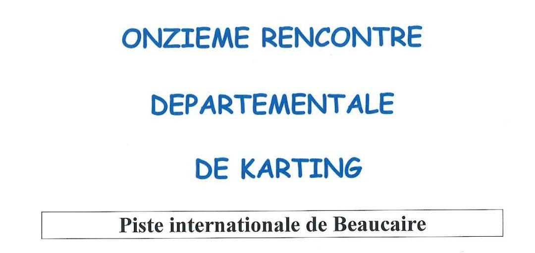 11ème Rencontre Départementale de Karting des Pompiers de Beaucaire