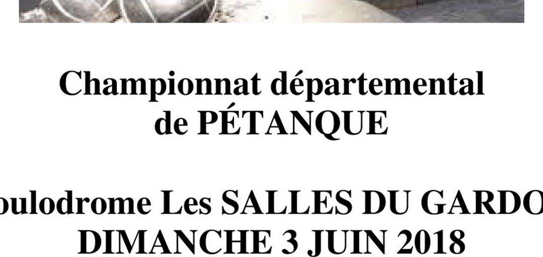 Championnat Départemental de Pétanque 2018