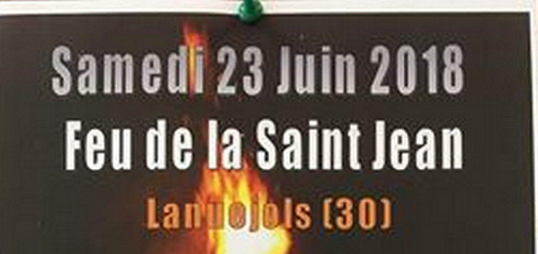 Feu de la St Jean des Sapeurs-Pompiers de Lanuejols