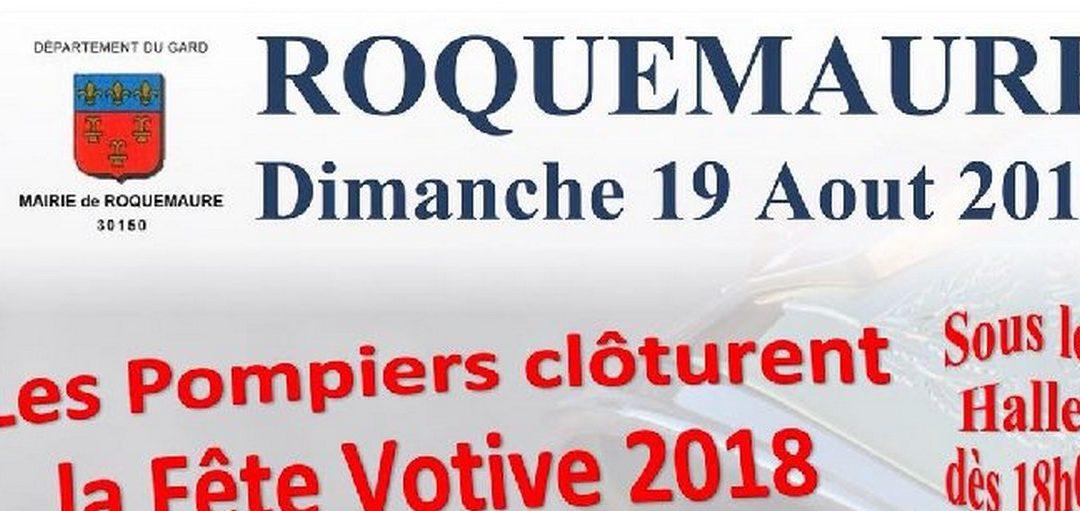 03- Les sapeurs-Pompiers de Roquemaure clôturent la Fête Votive